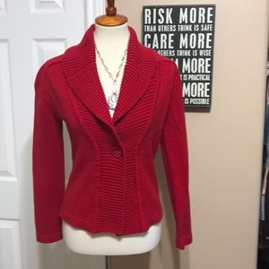 Rafaella size small fitted Cardigan Sweater ♥️
